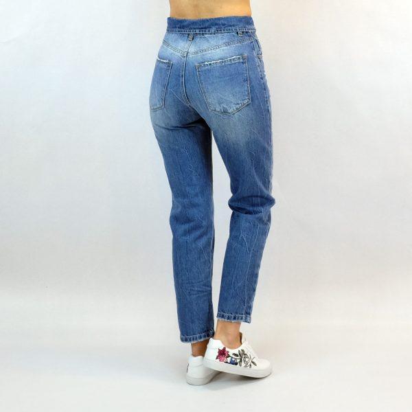 mom fit flip jean stone wash γυναικείο σταθερό παντελόνι απο την collection Verdi summer 2018