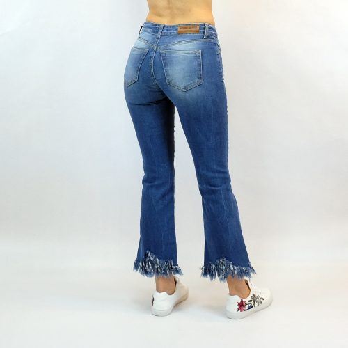 Cropped flare jeans Verdi απο την Collection summer 2018.
